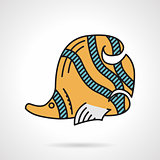 Flat design vector icon for yellow coralfish