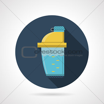 Flat color vector icon for supplements shaker