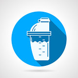 Supplements shaker flat vector icon