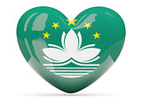 Heart shaped icon with flag of macao