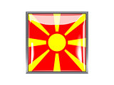 Square icon with flag of macedonia