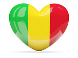Heart shaped icon with flag of mali