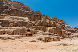Street of Facades in Nabatean city Petra Jordan