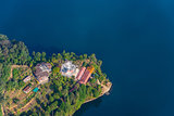 Phewa Lake aerial view in Nepal