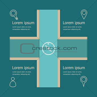 Abstract vector banners infographic template