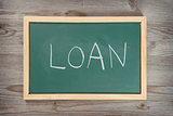 Loan letter on chalkboard