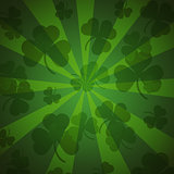 St. Patrick's day background in green colors. Seamless pattern