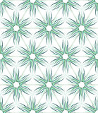 Seamless floral texture. Hexagons and triangles pattern.