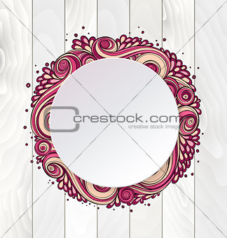 Abstract asian ethnic floral retro doodle pattern