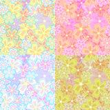 set of flower seamless01