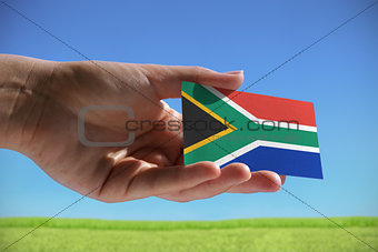 Small flag of Republic of South Africa