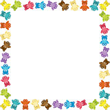 Colored Teddy Bear Frame