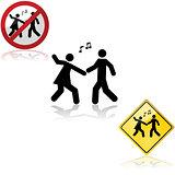 Dancing signs