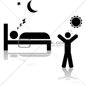 Sleeping and waking up