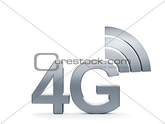 4G cellular high speed data connection concept logo