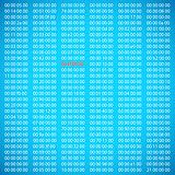 Blue binary computer code