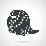 Black vector icon for butterflyfish