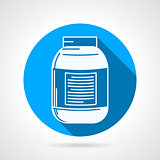 Round vector icon for creatine supplements