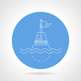 Blue vector icon for direction buoy