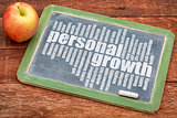 personal growth word cloud on blackboard