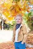 kid at fall
