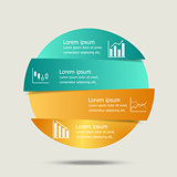 Vector circle banners infographic design