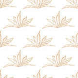 Hand drawn seamless floral pattern with orange flower
