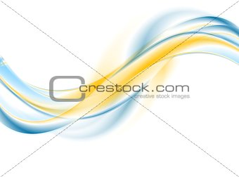 Bright abstract wavy corporate background