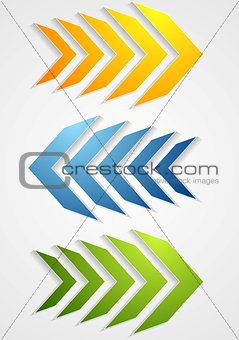 Abstract bright arrows