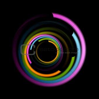 Abstract colorful swirl circle logo