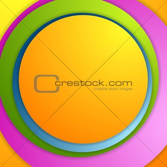 Bright colorful circles background