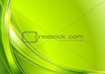 Bright green abstract wavy background