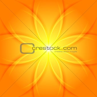 Abstract yellow flower background