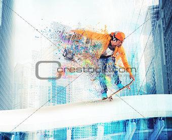 Skateboarder boy