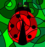 abstract ladybug