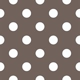 Seamless vector pattern with white polka dots