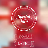 Vintage Sale Special Offer Sticker