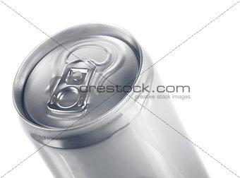 top of metal aluminum beverage drink can