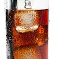 detail of fresh coke with black straw, summer time