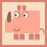 Rhino stylized cartoon icon