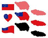 map of Samoa