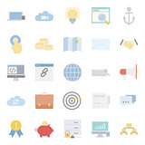 Seo and e-marketing flat icon set