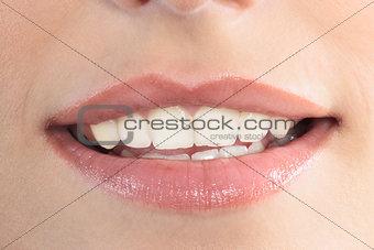 beautiful woman mouth lips