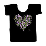 Black tshirt with floral print design
