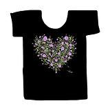 Black tshirt with floral print design