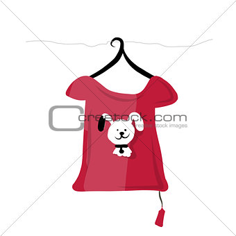 Top on hangers with funny animal design