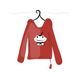 Top on hangers with funny frog design