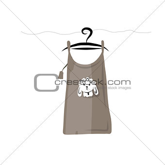 Top on hangers with funny sheep design