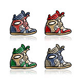 Female sneakers collection, sketch for your design