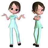 3d Cartoon nurse